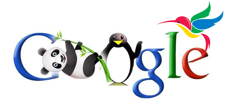 Google Panda Penguin and Humming Bird