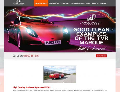 James Agger Autosport WordPress Used Car Sales
