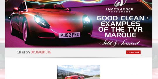 James Agger Autosport New Wordpress Website for 2015