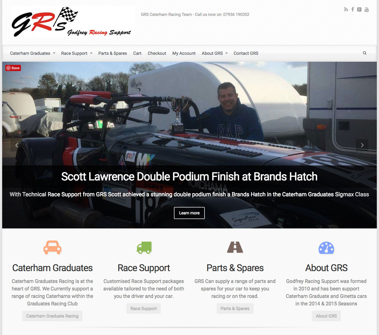 GRS Godfrey Racing Support Wordpress & WooCommerce for Motorsport
