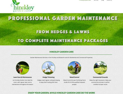 Hinckley Garden Care WordPress Website with Local SEO