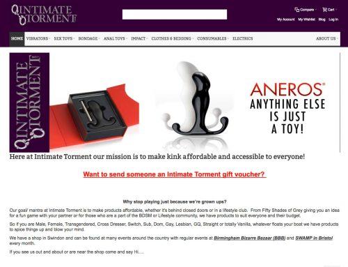 Intimate Torment – Retail Adult Toys Magento E-Commerce
