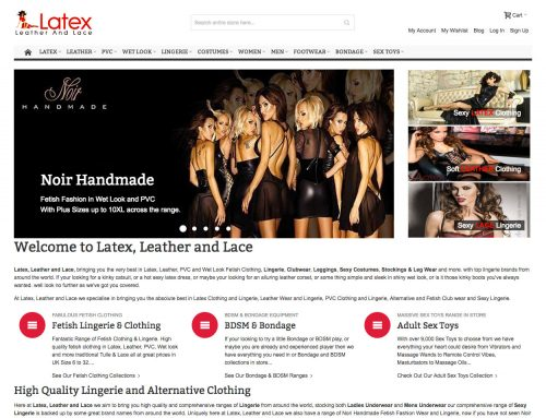 Latex Leather and Lace – Magento Retail Store