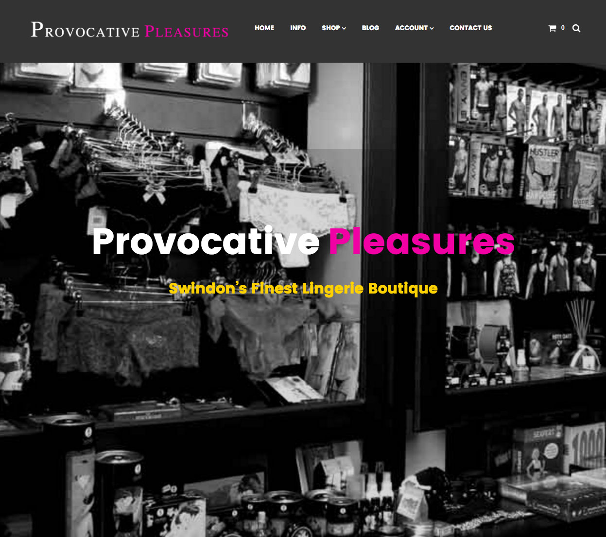 provocative Pleasures Swindon Wordpress & WooCommerce