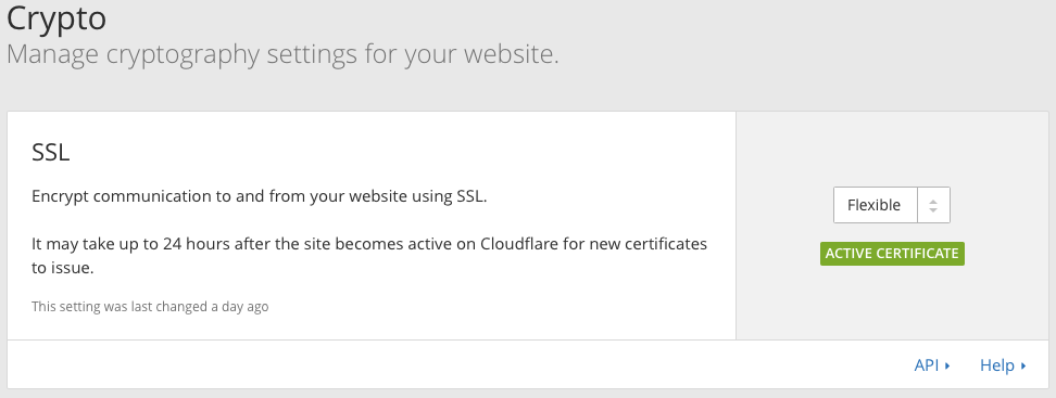 Cloudflare Flexible SSL Encryption